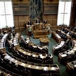 Folketingssalen under statsminister Lars Løkke Rasmussen (V) åbningstale.